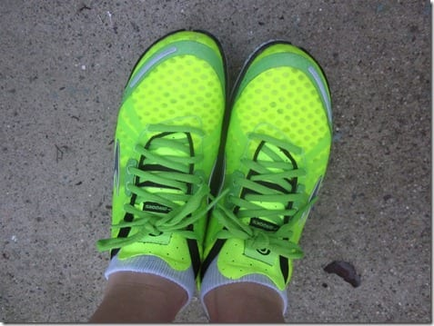 brooks yellow shoes
