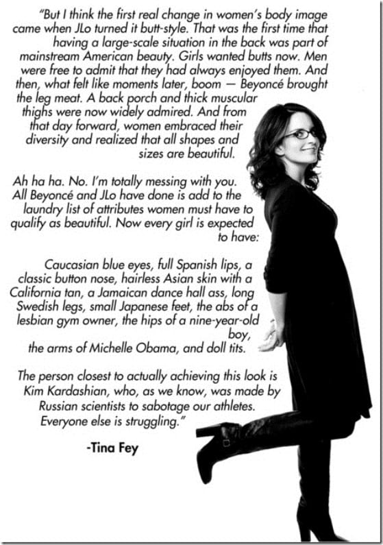 tina fey body image quote