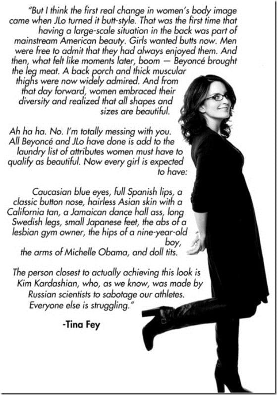 Tina Fey on Body Image - Run Eat Repeat