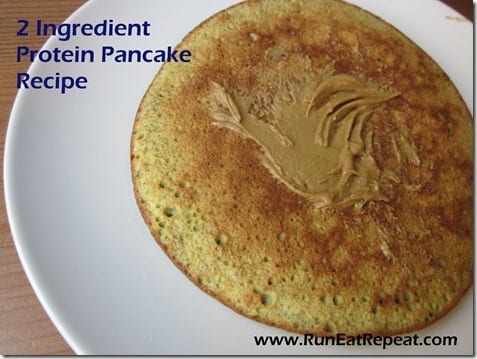 2 ingredient protein pancake thumb Healthy 2 Ingredient Pancake Recipe