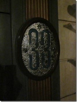 club 33 door inside Disneyland