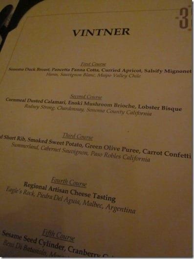 Club 33 menu and prices