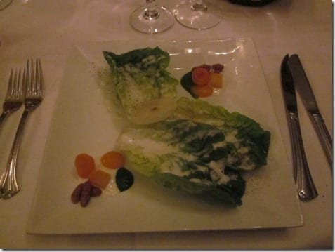 Little Gem Lettuce Salad at Club 33 restaurant