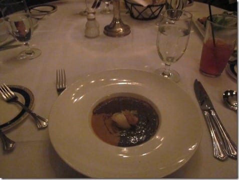 Lentil Soup at Club 33 restaurant