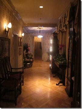 inside Disneyland's Club 33 decor