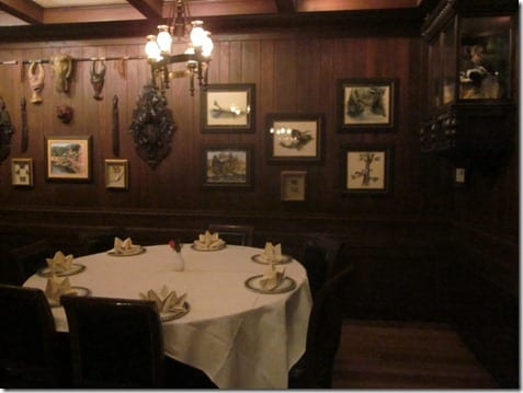 inside Disneyland's Club 33 decor