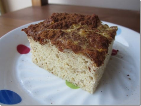 clean paleo bread coffee cake recipe
