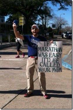 if the marathon was easy