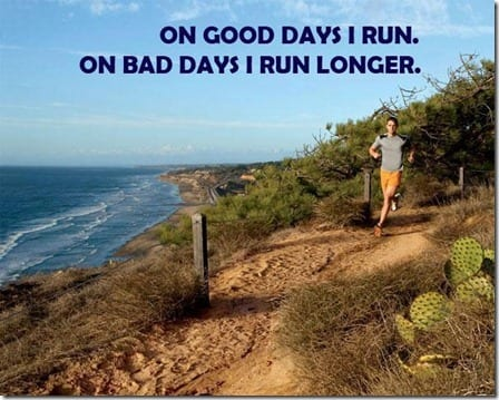 on good days I run