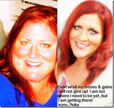 ruby before and after thumb Weight Loss Wednesday–Ruby Dvd Giveaway