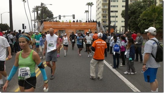los angeles marathon finish