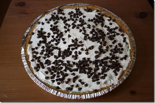 IMG 1532 640x427 thumb Easy Mint n' Chip Pie Recipe