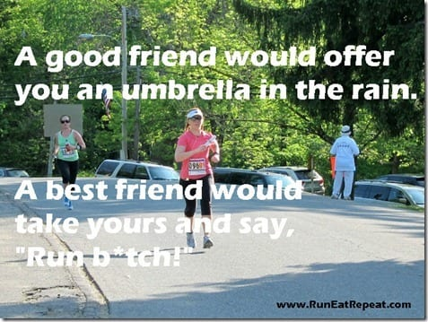 a good friend would offer you an umbrella