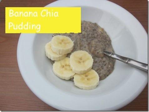 banana chia puddiing
