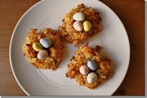 birds nest with chocolate eggs recipe
