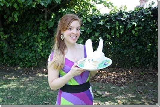 bunny cake and a girl who bakes it