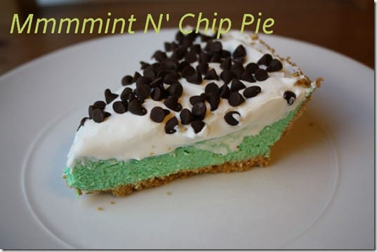 easy mint and chip pie recipe thumb Easy Mint n' Chip Pie Recipe