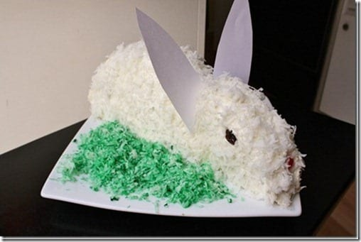 how to make an easter bunny cake recipe