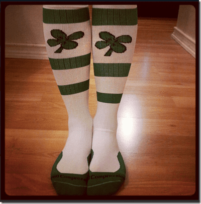 compression socks for st. patricks day race