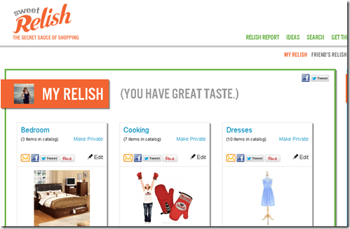 sweet relish shopping list
