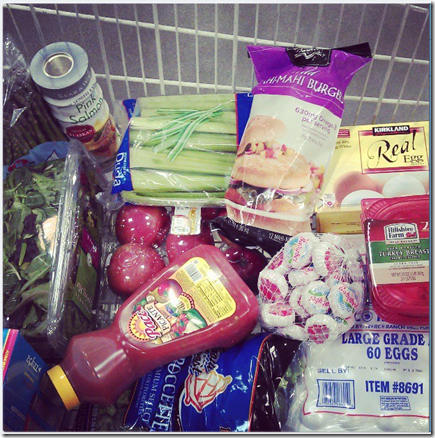 healthy grocery basket