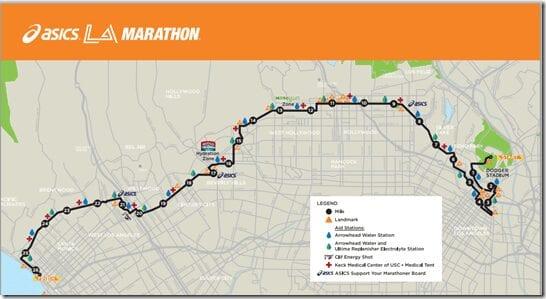 la marathon course