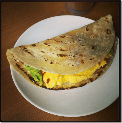 egg and avocaod quesadilla