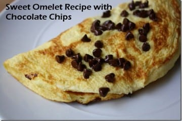 Sweet Omelet with Chocolate Chips Recipe