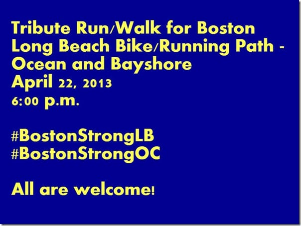 Boston Strong Run in Los Angeles  thumb #BostonStrongOC #BostonStrongLB Runs