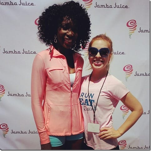 me and Venus Williams at Jamba Juice event