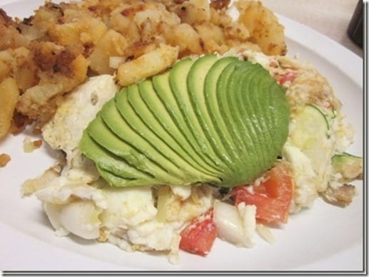 avocado on eggs