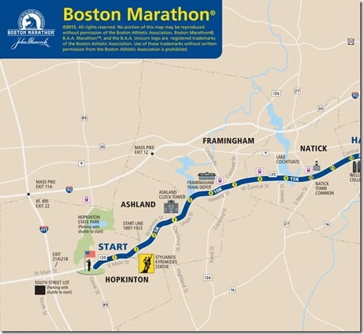 boston marathon course thumb (Boston) Marathon Motivation Monday