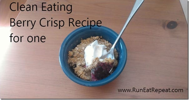 clean eating berry crisp