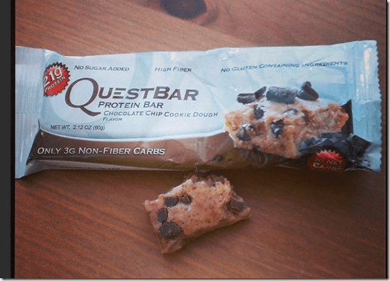 quest chocolate chip bar