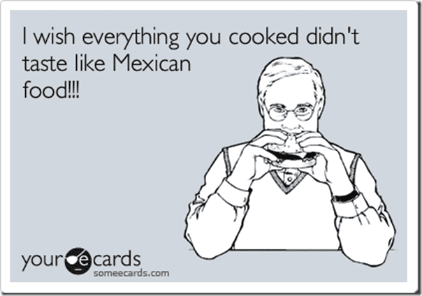 it's all mexican food