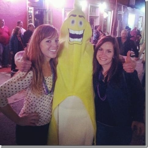 me and chandra with a huge banana guy