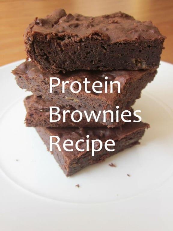 Protein powder brownie