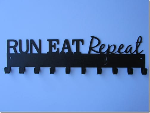 run eat repeat medal hanger for race medals