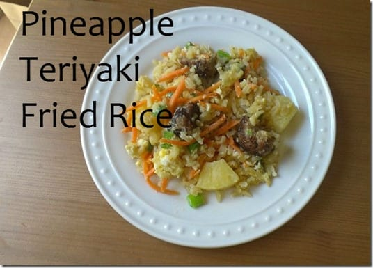 stir fry rice recipe thumb Teriyaki Pineapple Fried Rice