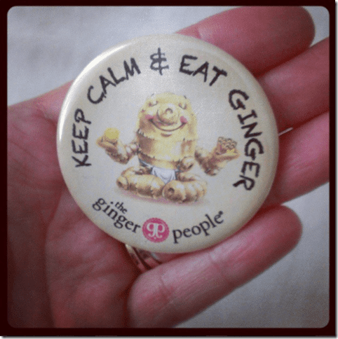 keep calm and eat ginger