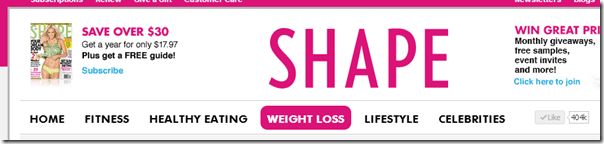 shape magazine blogger