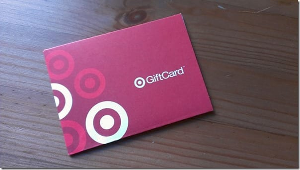 Target gift card exercise giveaway