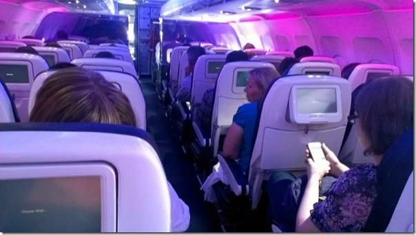 virgin america plane inside