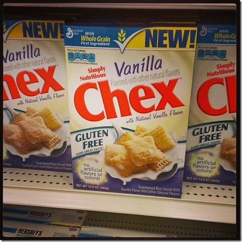 vanilla chex cereal new gluten free cereal