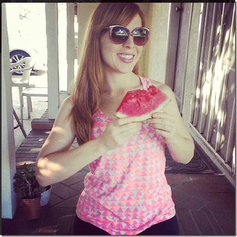 food blogger watermelon