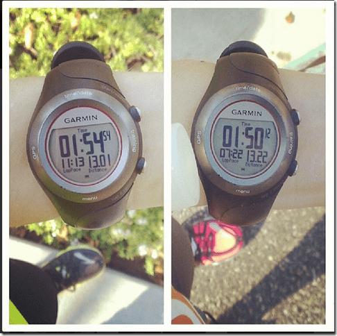 two back to back half marathons