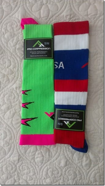 procompression fourth of july socks for race