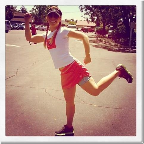 running in the heat