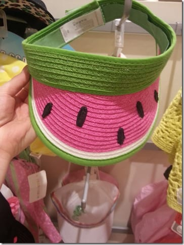 watermelon visor