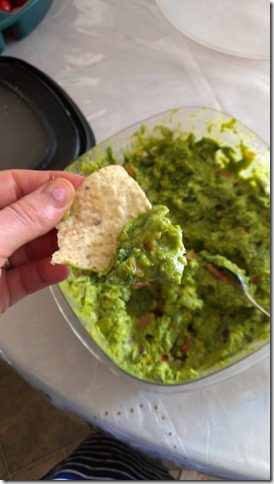 homemade guacamole